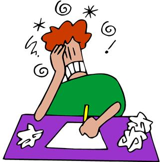 frustrated writer