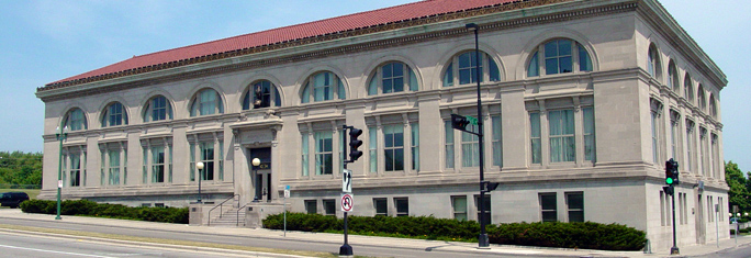 J. I. Case Corporate Building - same building as the Boston Library