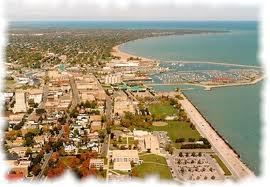 Aerial view of the Lake Shore