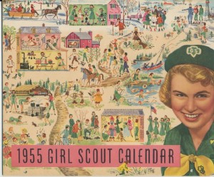 girl scout calendar nineteen fifty five