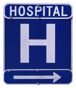 Hospital-entrance-sign