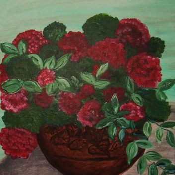 Painting: Red Geranium