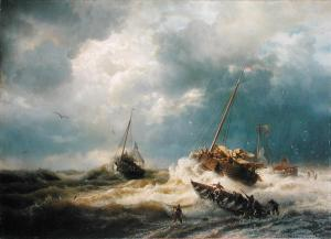 Ships-in-a-Storm-on-the-Dutch-Coast-1854-xx-Andreas-Achenbach