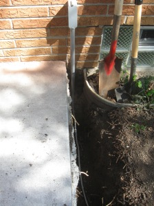 Wire in trench